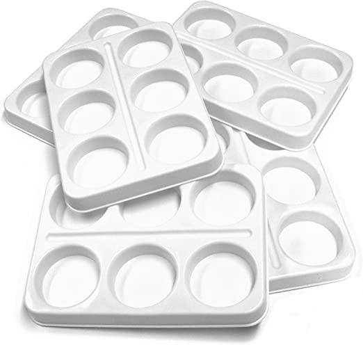 6 Well Economy Palette Paint Mixing Tray x 1