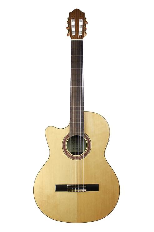 Kremona Rondo r65cw Cutaway zurdos/eléctrica guitarra clásica ...