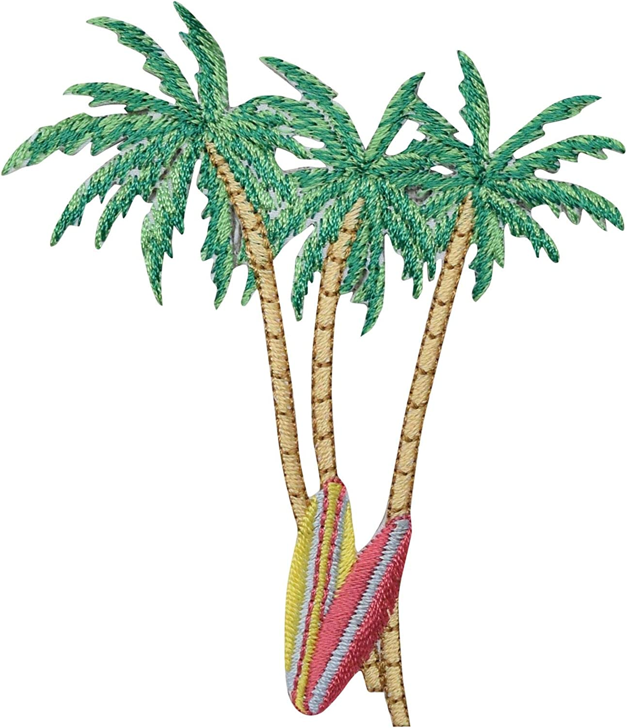 Palm Tree//Tropical//Beach Iron on Applique//Embroidered Patch