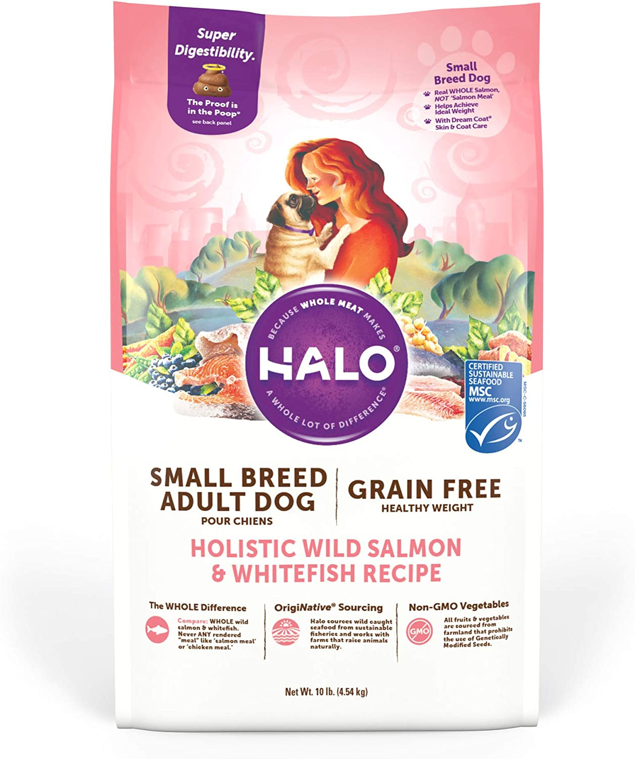 Halo Grain Free Dry Dog Food, Small Breed, Salmon & Whitefish