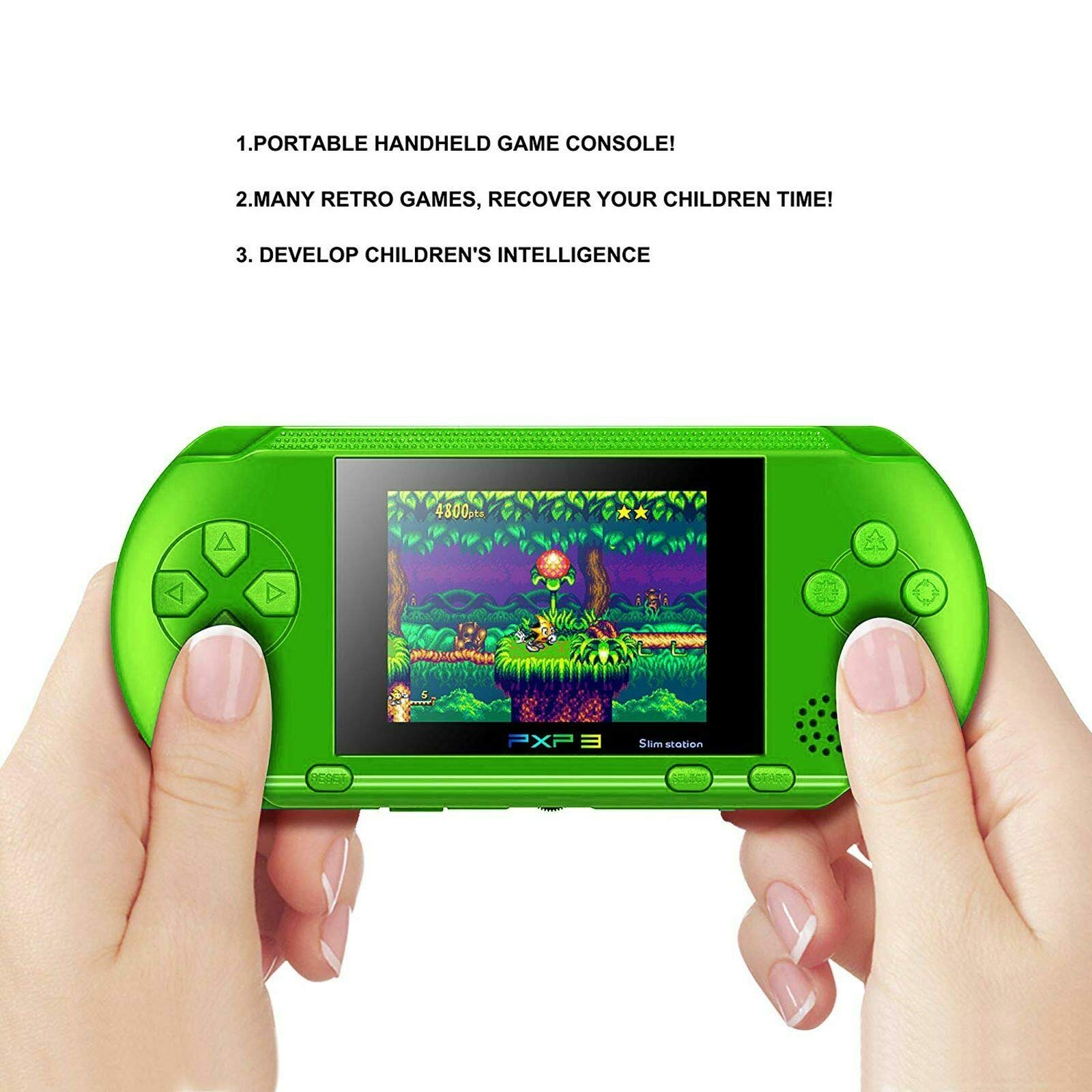 Ocamo Retro Game Console, AV Output PXP3 Portable Handheld Console Built-in Video Game Gaming Console Player Black by Ocamo (Image #5)