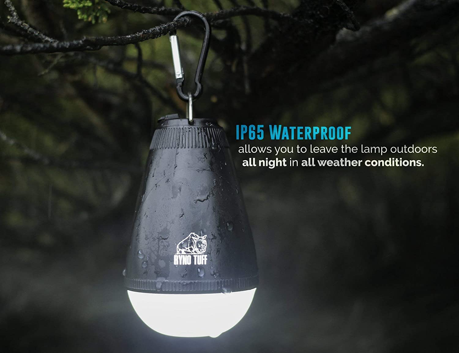 Ryno Tuff Camping Lantern Tent Light With Remote Control Usb Ultra Bright Led Lamp Rechargeable