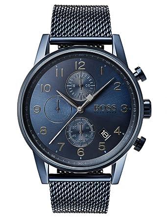07960deebe Hugo Boss Hommes Chronographe Quartz Montres bracelet avec bracelet en  Acier Inoxydable - 1513538