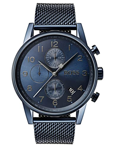 f4c6a108c046c HUGO BOSS Men s Chronograph Quartz Watch with Stainless Steel Bracelet -  1513538  Amazon.co.uk  Watches