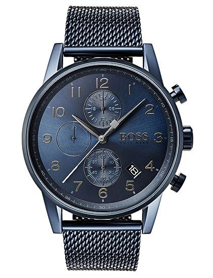 e45bfaf2a1d4 Hugo BOSS Reloj Cronógrafo para Hombre de Cuarzo con Correa en Acero  Inoxidable 1513538  Amazon.es  Relojes