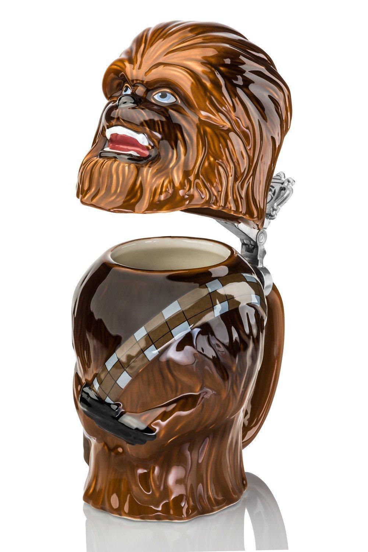 Lid german beer mug hinged lid gaming computer desk ideas - Amazon Com Star Wars Chewbacca Stein Collectible 22oz Ceramic Mug With Metal Hinge Beer Mugs Steins