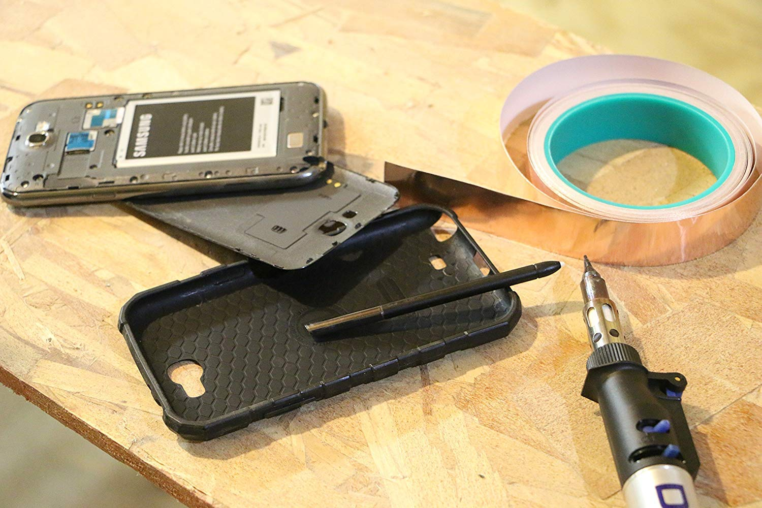 DIY Material 1-Inch x 12-Yards Slug Repellent Conductive Copper Tape Electronics Repair and Stained Glass Making
