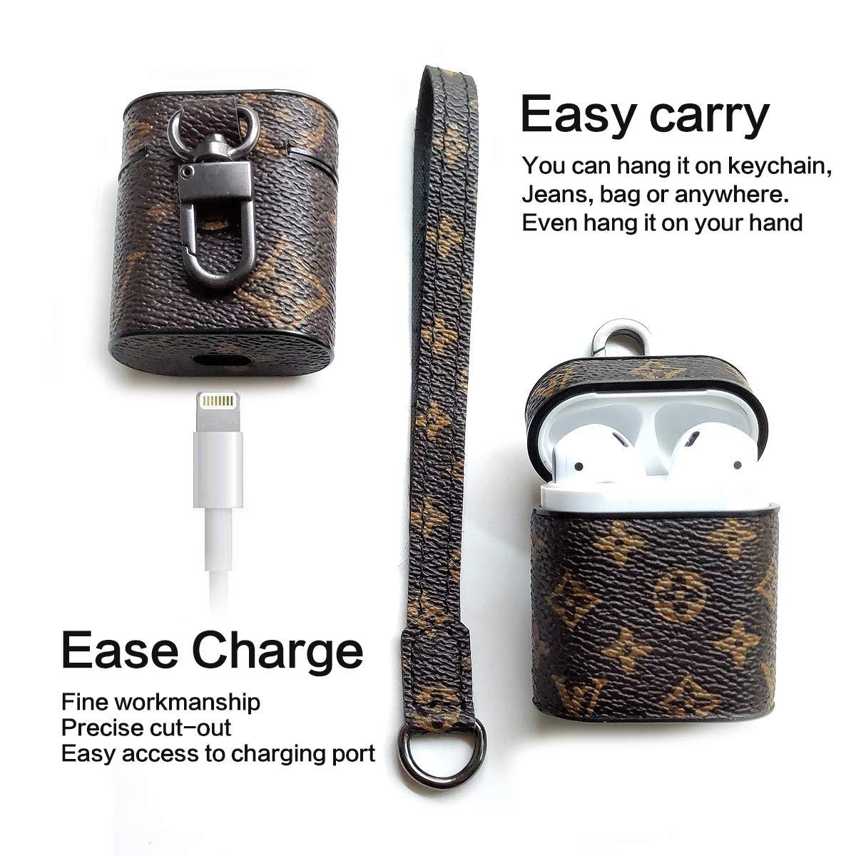 Amazon.com: Jansae - Funda de piel para Airpods con correa ...