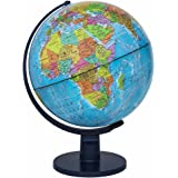 Waypoint Geographic Scout World Globe- Great Quality Globe For Kids & Teachers- More Than 4,000 Name Places- Great Color & Unique Construction- Up-To-Date World Globe- Geography Globe With Stand- 12""