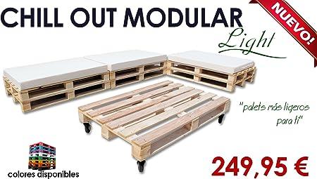 Chill out Light modular palets para jardín y terraza (Palet madera natural): Amazon.es: Hogar