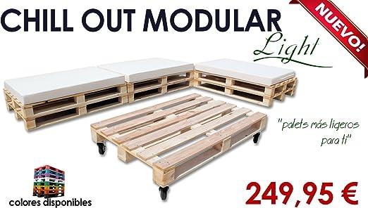 Chill out Light modular palets para jardín y terraza (Palet madera ...