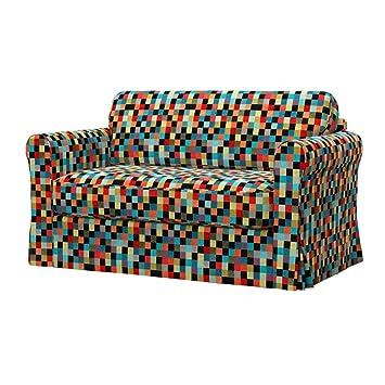 Soferia - IKEA HAGALUND Funda para sofá Cama, Mozaik Red ...