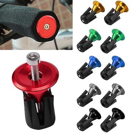 2x Aluminum alloy Bike Grips Bar End Caps Plug For MTB Road Bicycle Handle New