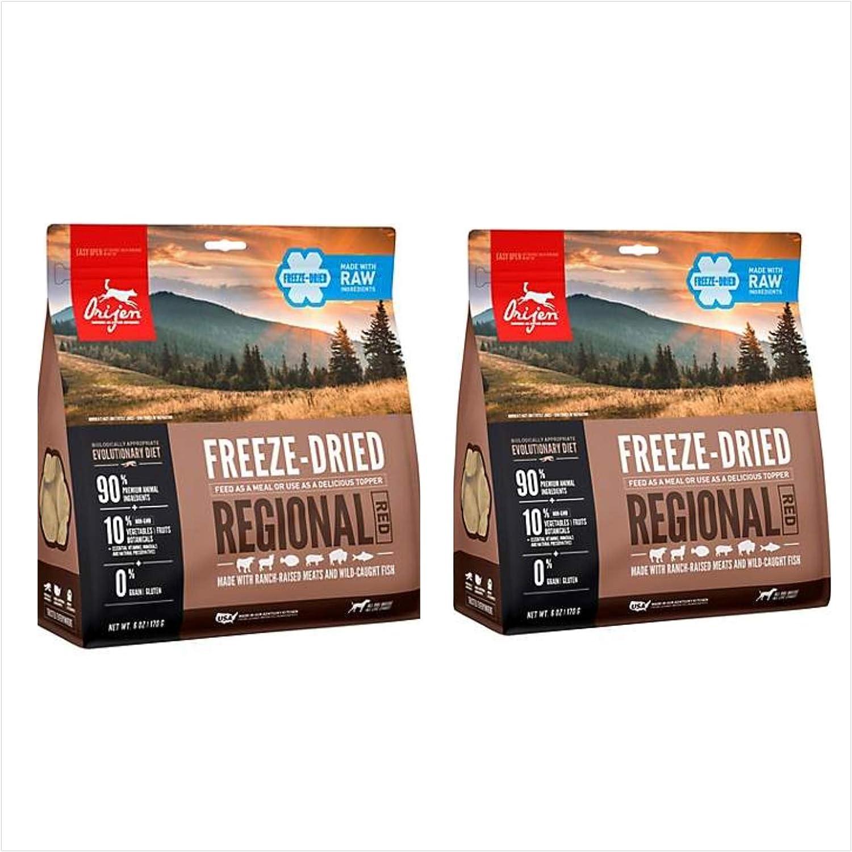 Orijen Freeze Dried Regional Red Dog Food 16 Ounce Bag. (2 Pack)