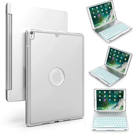 Bluetooth teclado Funda para Nueva 2017 iPad 9.7/Air1, genjia Premium portátil inalámbrico de