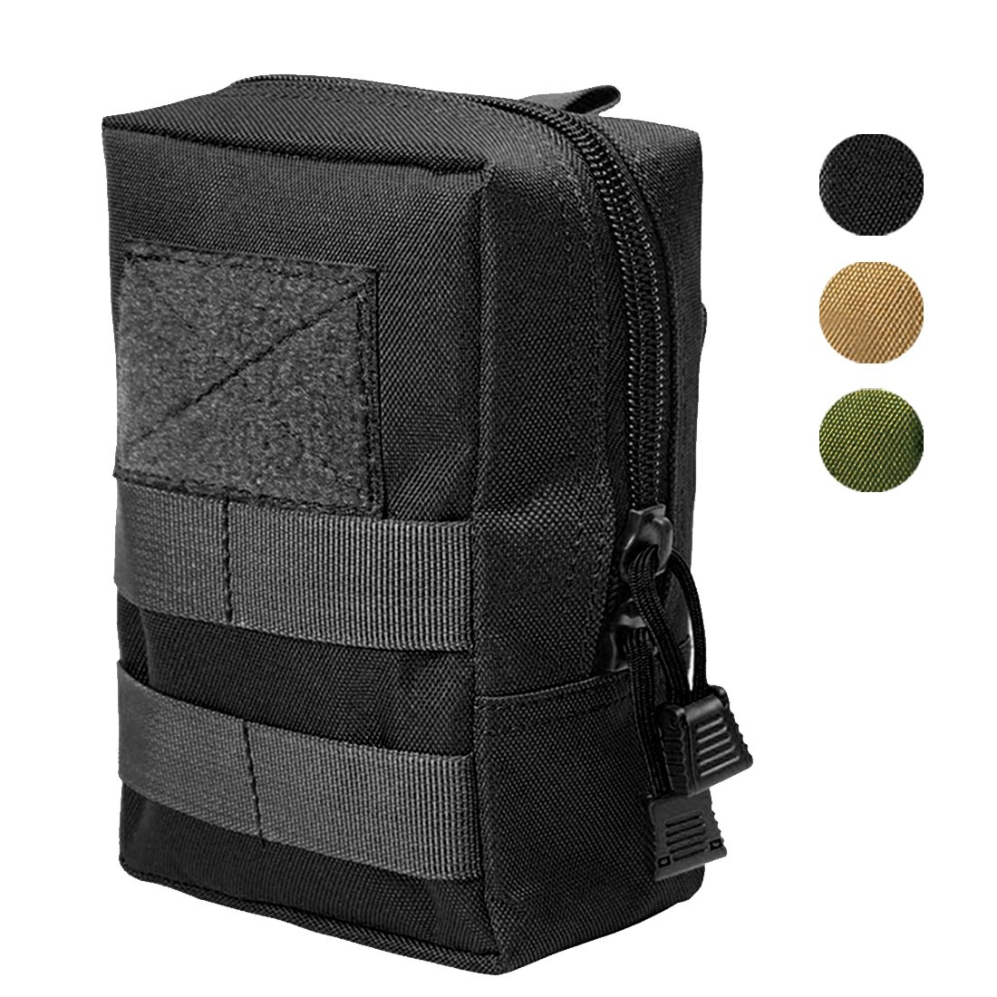 Hoanan Molle Pouches, Tactical Admin Pouch Compact EDC Utility Gadget Gear Pouch Military Carry Accessory Belt Hanging Waist Bag