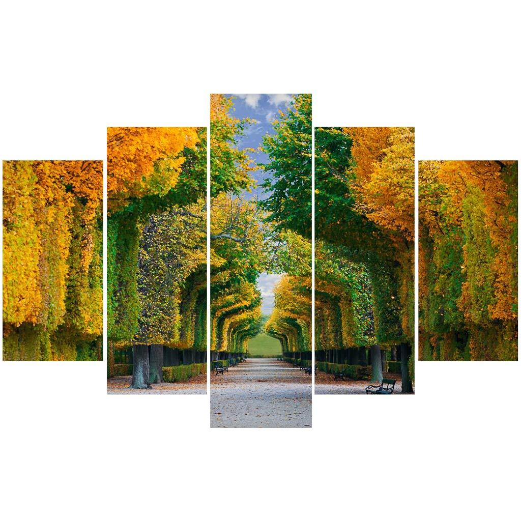 Immagine di Paesaggio Senza Cornice Decorativo/Quadro su Tela Moderno Sospeso Murale/Combinato Opera Darte/per Ufficio Soggiorno Albergo Ristorante Zilee Pittura Murale 5 Pezzi
