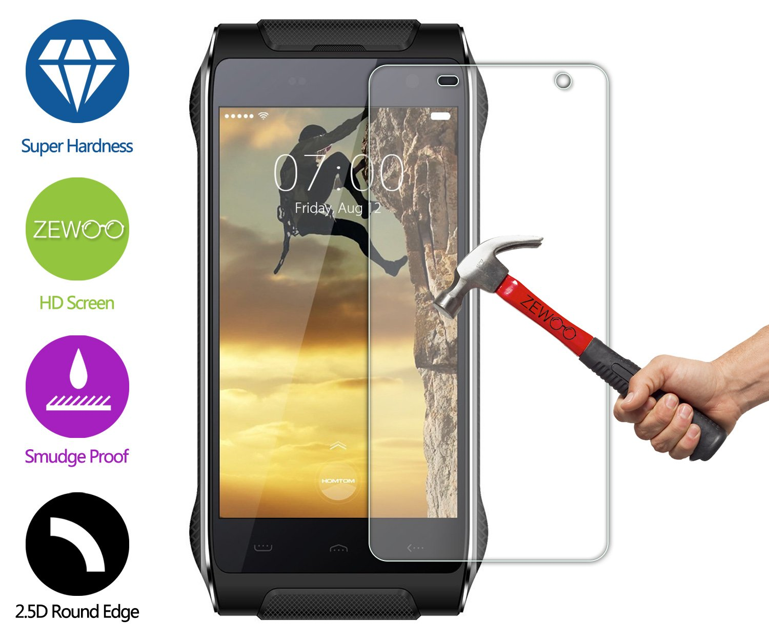 Tempered Glass 2.5D Screen Protector Film For Kindle fire 7.0// Kindle Voyage 6.0