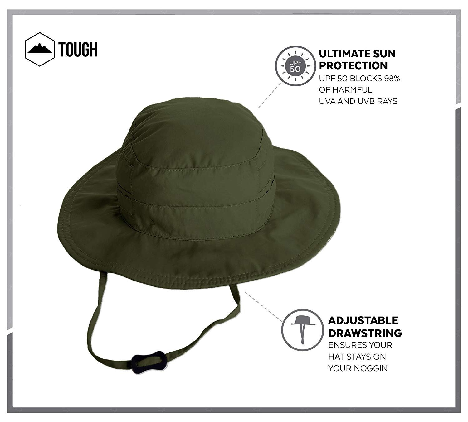 06d7c5e3bd9 Amazon.com   Boonie Safari Sun Hat for Men   Women - UPF 50 Sun Protection  - Wide Brim Summer Hat. Waterproof for Fishing