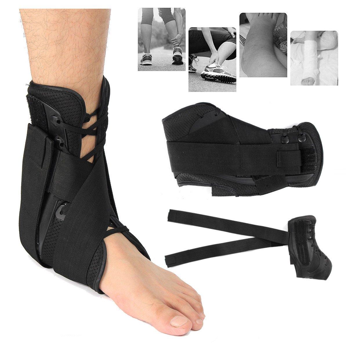Andensoner Tobillera para esguince de Tobillo, Soporte de Tobillo Ajustable Corrector Tobillo Protector de pie esguinces lesión Dolor Protector Wrap (Color : S )