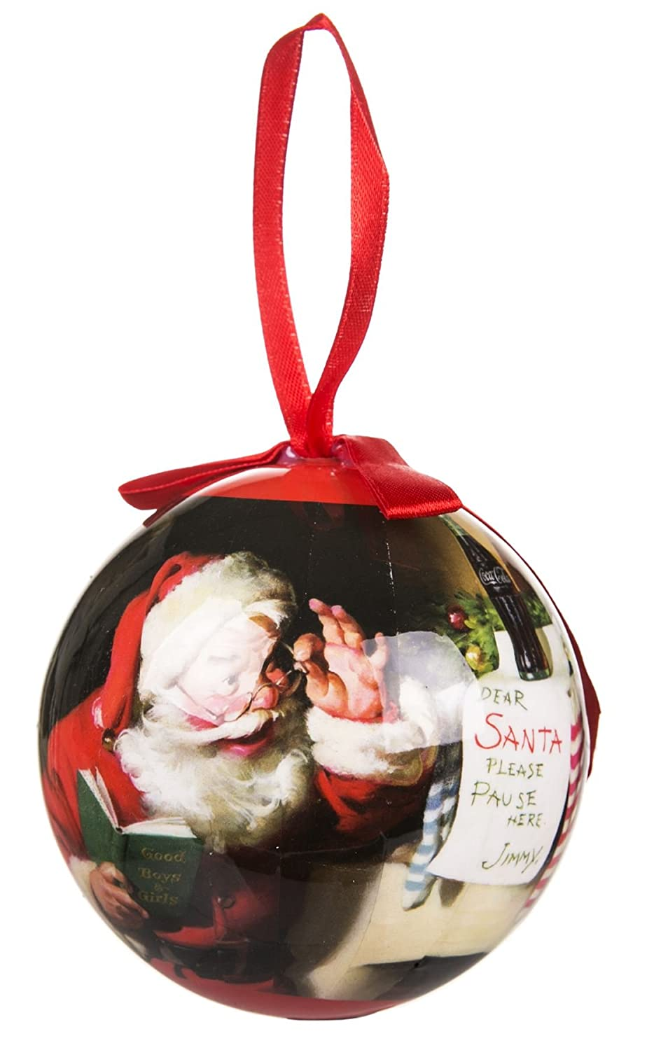 Coca Cola Hand Crafted Christmas Tree Santa Claus Bauble Ball Ornament Decoration Hanging Festive Gift Box Party