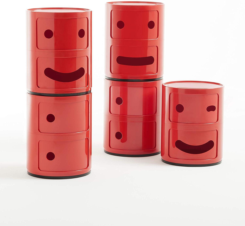 42 x 32 x 32 cm Plastique Kartell COMPONIBILI Smile Meuble de Rangement Salon