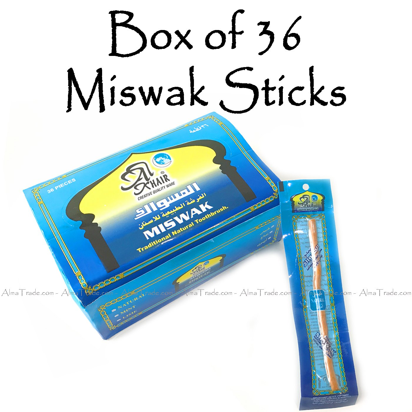 36 x de recambio para picaporte de fijación para pared de yeso islámica Sunnah Miswak paquete de cepillos de dientes para crear tus propias ...