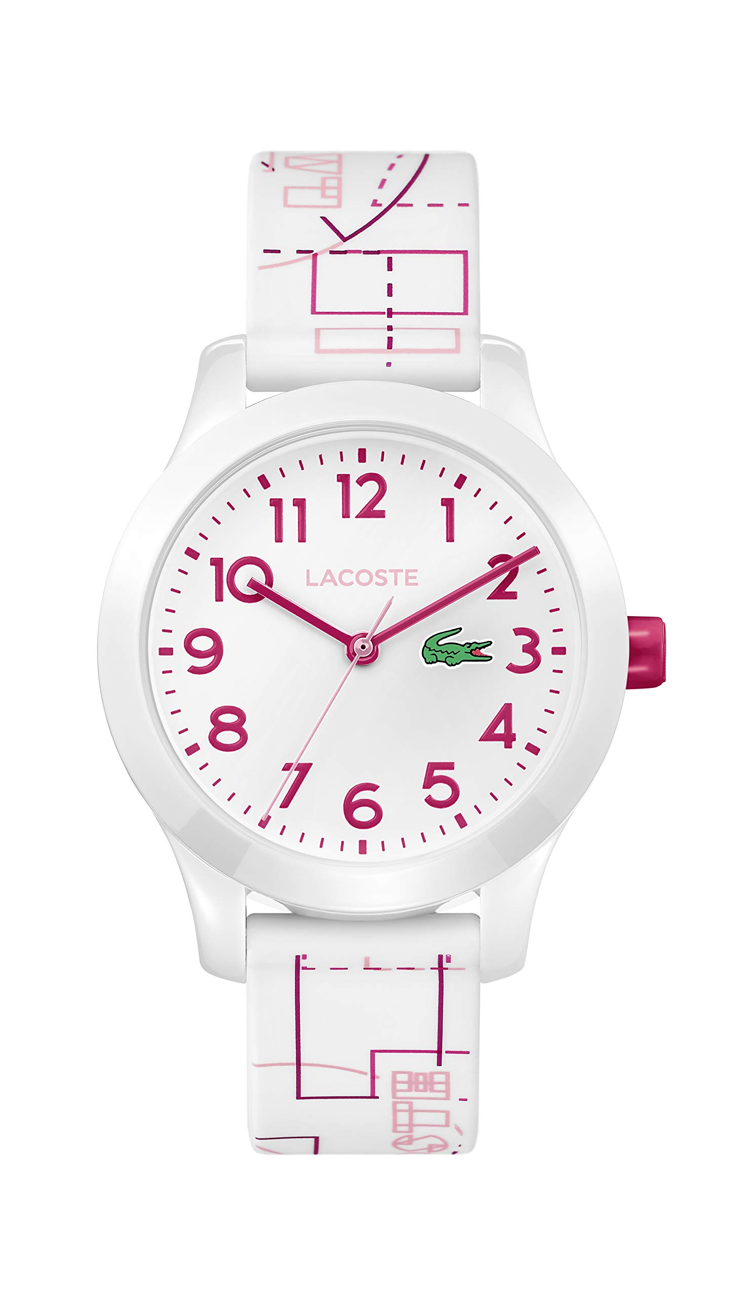 Lacoste Kids' TR90 Quartz Watch with Rubber Strap, White, 14 (Model: 2030009) by Lacoste