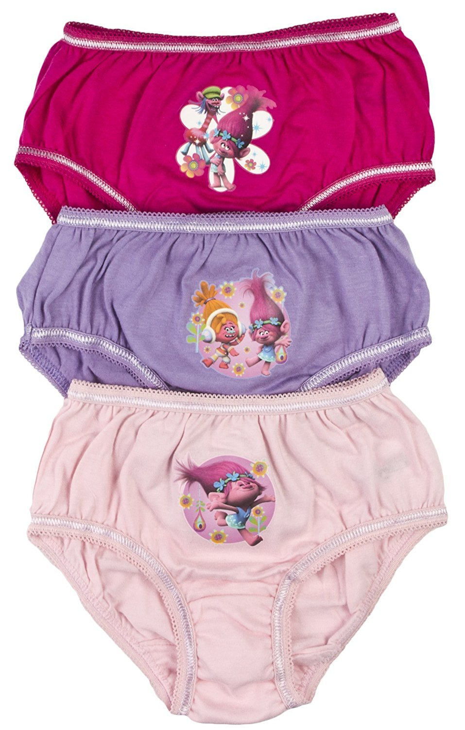 (3 Pack) - Girls Trolls Underwear Pants Briefs