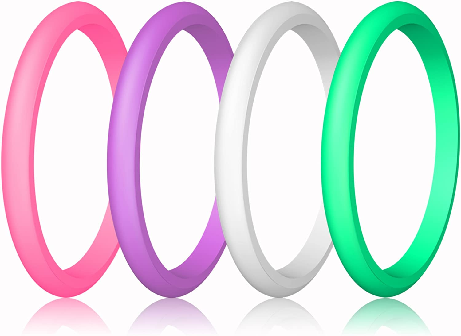 Couple Souvenir and Outdoor Active Exercise Style-10 Rings Pack LUNIQI Silicone Wedding Ring for Men Durable Rubber Safe Band for Love