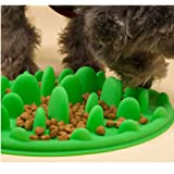 Freshlove Slow Pet Feeder Anti-choke Pet Bowl for Feeding Dogs & Cats - Green(25 * 18cm)