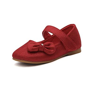 b0315d8cc3e DREAM PAIRS Angel-5 Adorable Mary Jane Side Bow Buckle Strap Ballerina Flat  (Toddler