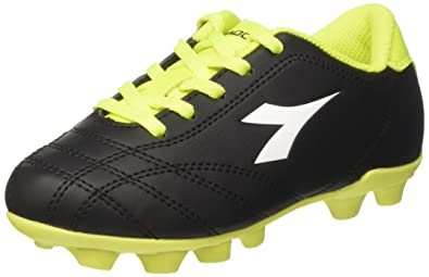 Diadora6PLAY MD - Moulded stud football boots - white/black/yellow fluo TabIf4wP
