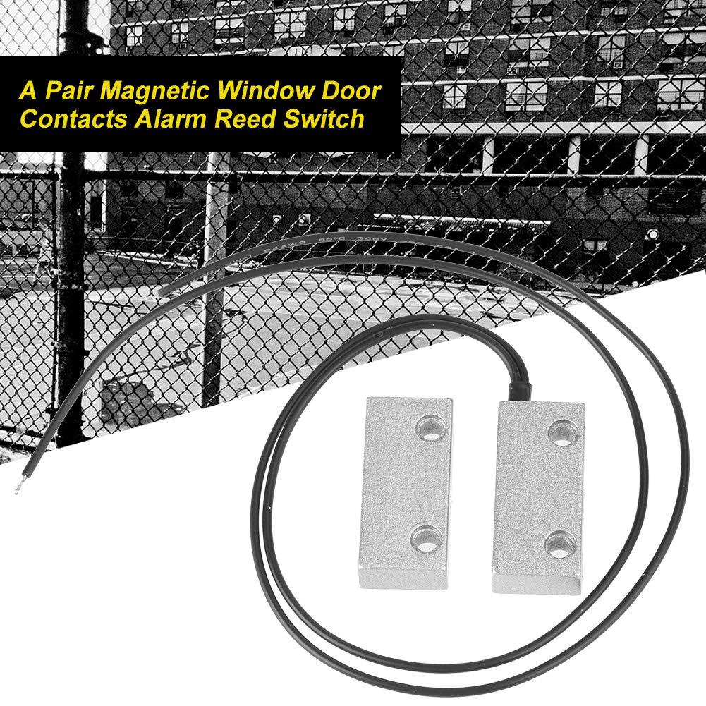 Amazon.com: Magnetic Switch Door Contact Alarm Wired Door Window Open Alarm Sensor Switches Normal Closed: Home & Kitchen