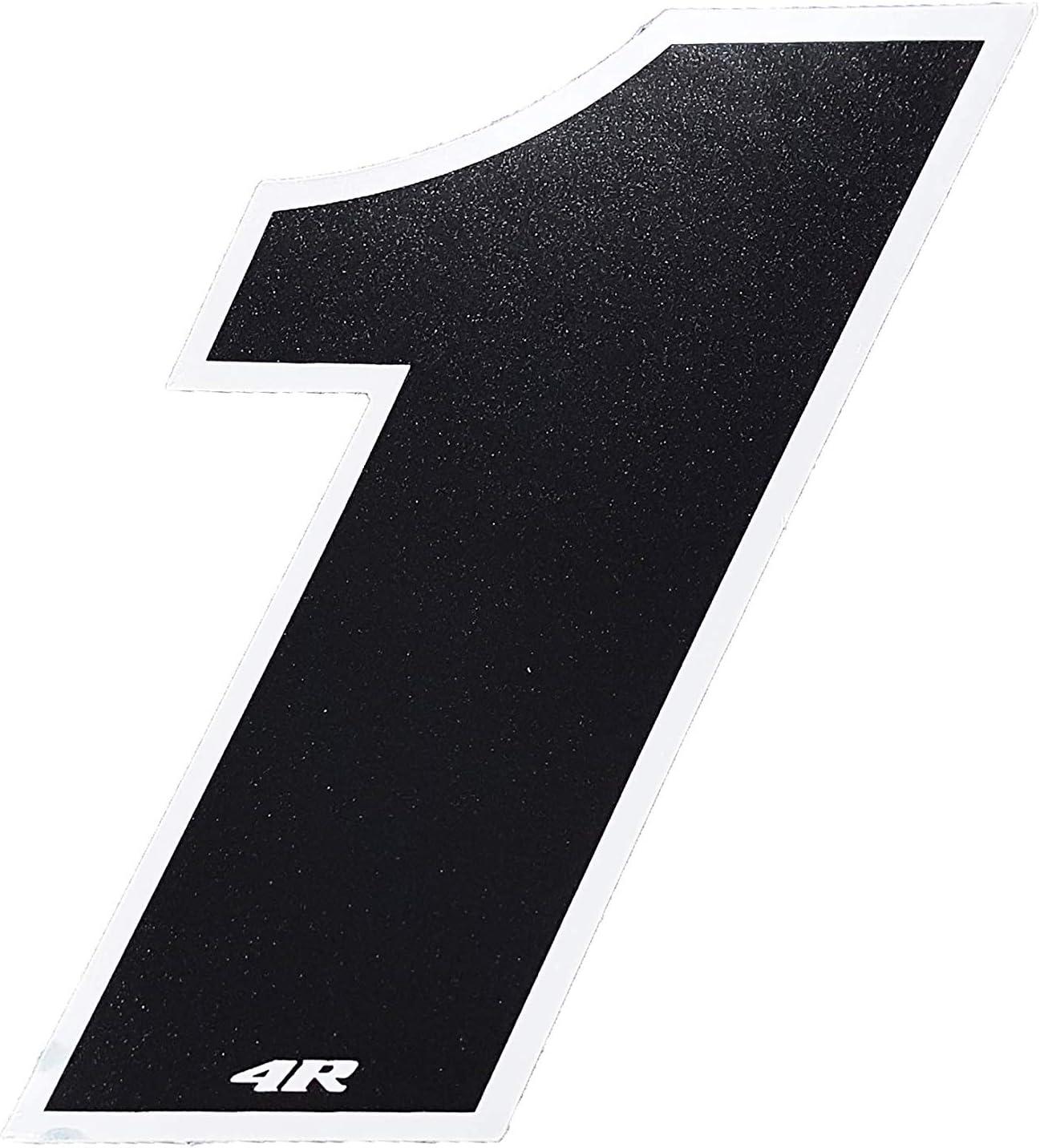 4R Quattroerre.it 13101 13101-Adhesivo para Moto Color Negro 27 x 37 mm