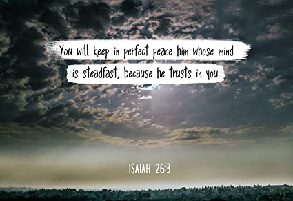 Amazon Bible Verse Wall Art You Will Keep In Perfect Peace
