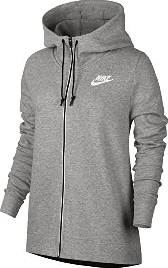 Nike Damen W Nsw Av15 Fz kapuzen Sweatjacke grau (dk grey heather ...