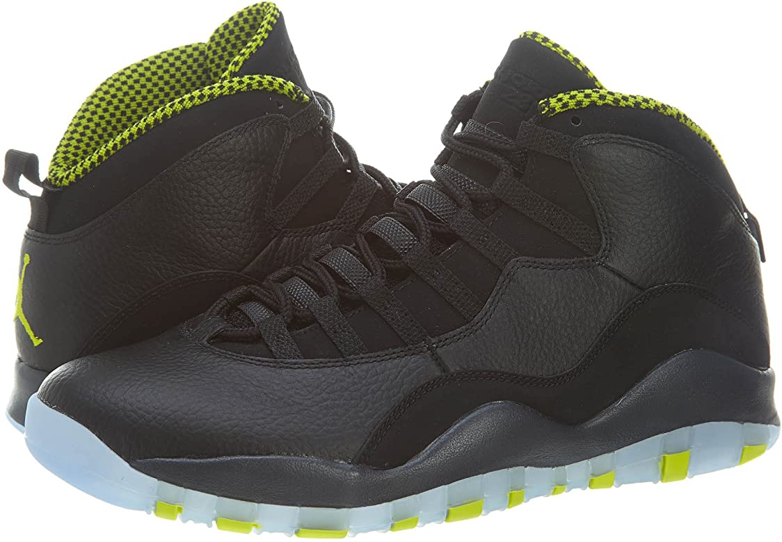 the best attitude f29d6 267ee NIKE Air Jordan Retro 10 X Basketball Shoes Sneaker Black/Green