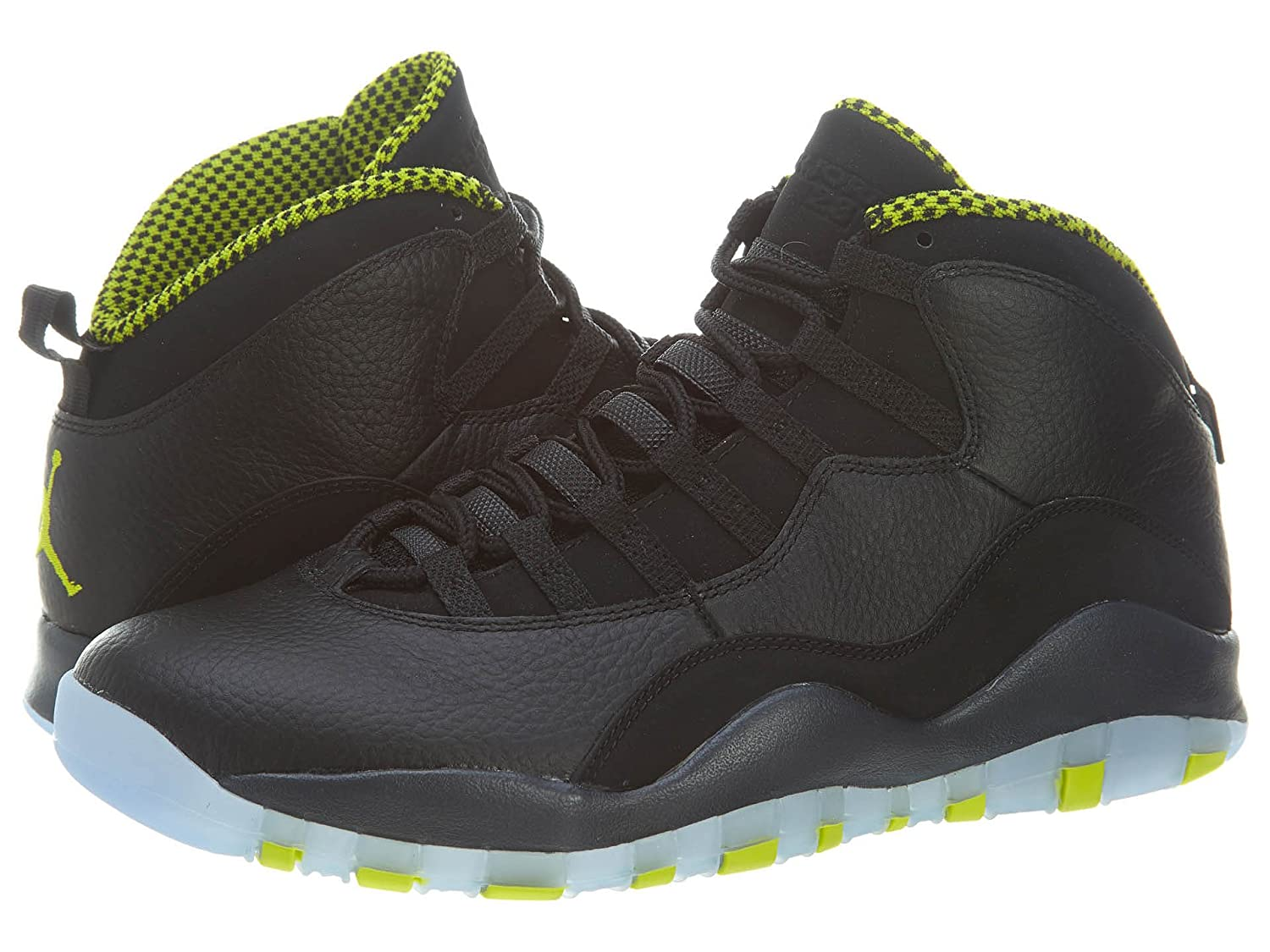 classic fit 9e21e 172f3 Air Jordan Retro 10 Mens Style: 310805-033 Size: 9.5/Black/Vnm Green-Cl  Gry-Anthrct
