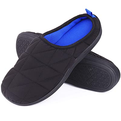HugHome Men's Sport Memory Foam House Slippers Two Tone Breathable Clogs Home Shoes: Clothing