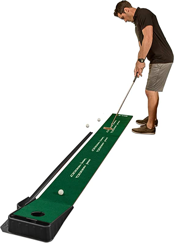 SKLZ Accelerator Pro Indoor Putting Green with Ball Return, 9 feet x 16.25 inches