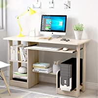 Computer Table Home Office Writing Desk Laptop Table for Office Notebook Desk with Storage Shelf, Keyboard Tray and…