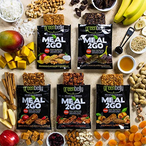 Greenbelly Backpacking Meals – Backpacking Food, Appalachian Trail Food Bars, Ultralight, Non-Cook, High-Calorie, Gluten-Free, Ready-to-Eat, All Natural Meal Bars Variety, 30 Meals
