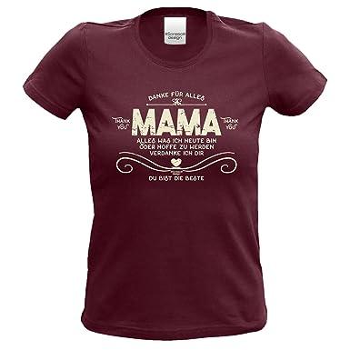 Damen Frauen Girlie T-Shirt als Muttertagsgeschenk Geburtstagsgeschenk :-:  Geschenkidee Mutter Geburtstag Muttertag Weihnachten Valentinstag :-: Danke  Mama ...
