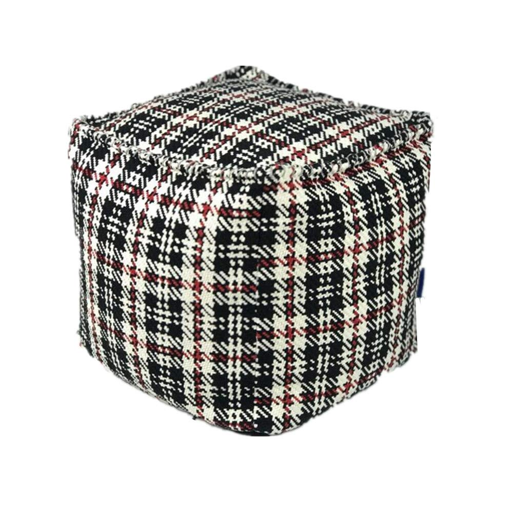 ComforHome Home Decor Bean Bag Pouf Floor Pouf Handmade Ottoman; Colorful Footstool Color-6