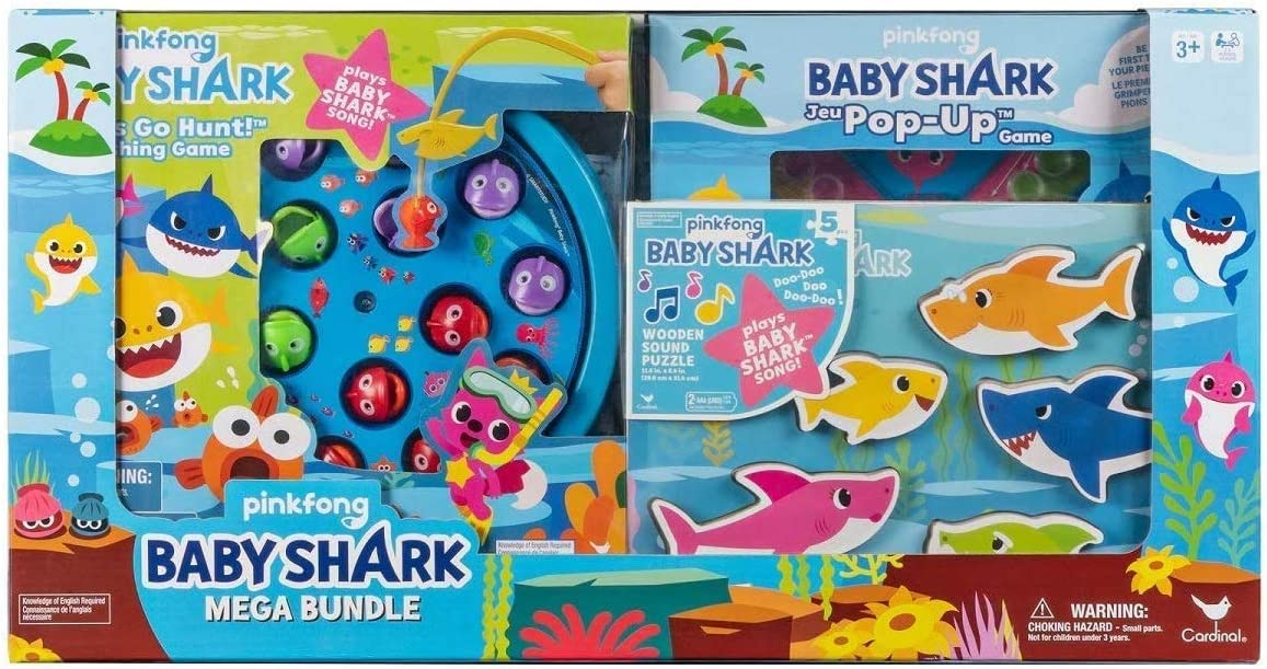 Cardinal Games Pinkfong Baby Shark Mega Bundle with Puzzles and Games for Kids