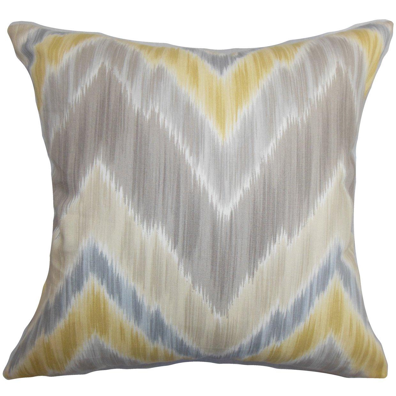 The枕コレクションp20-d-42245-greystone-c100 Calthaジグザグ枕、グレー、20