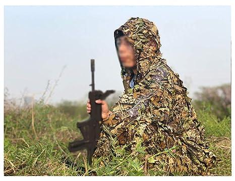 ZHhome Ropa de Camuflaje Camo, Ropa 3D, Adecuado para Emboscada de Francotirador Arbolado Disparos