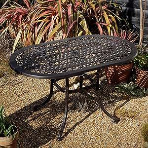 Elise Mobiliario de jardín muebles de jardín Set 136x 81cm ovalada aluminio jardín Asiento Grupo–1Elise mesa + 4sillas Emma SA