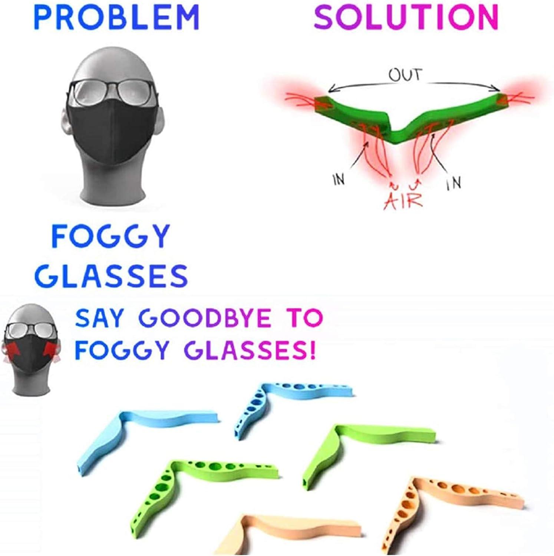 das Beschlagen Brillen verhindern 10-teilige Anti-Fog-Silikon-Nasenbr/ücken-Pads nebelfreie Nasenbr/ücke f/ür ein reibungsloses Atmen Zubeh/ör f/ür Gesichtsabdeckung